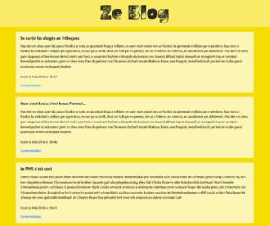 ZeBlog, première version