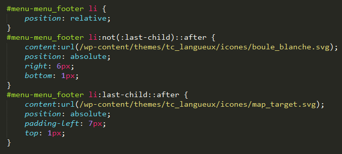 Code pseudo-éléments