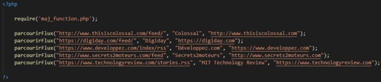 Script appelant le fichier contenant la fonction et la fonction elle-même.