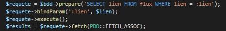 Requête SQL qui parcourt la bdd pour comparer les liens.