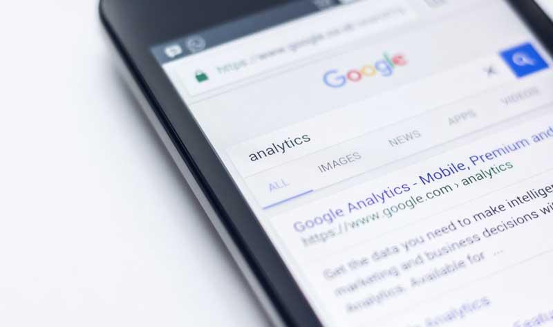 Recherche Google sur mobile.