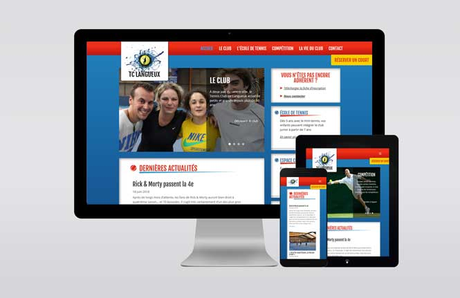 Site web du Tennis Club de Langueux