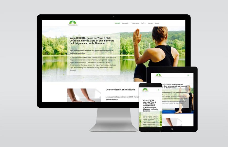 Les différentes vues du site Yoga Cesera