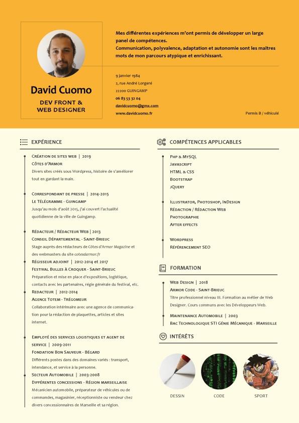 CV David Cuomo