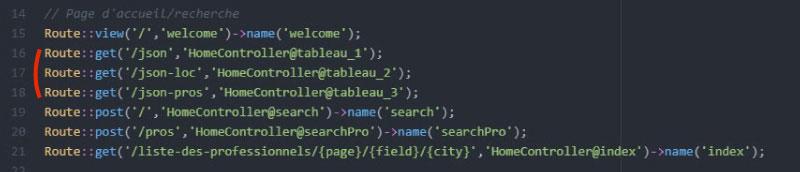 Routes de web.php